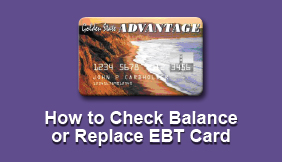 How to Check Balance or Replace EBT