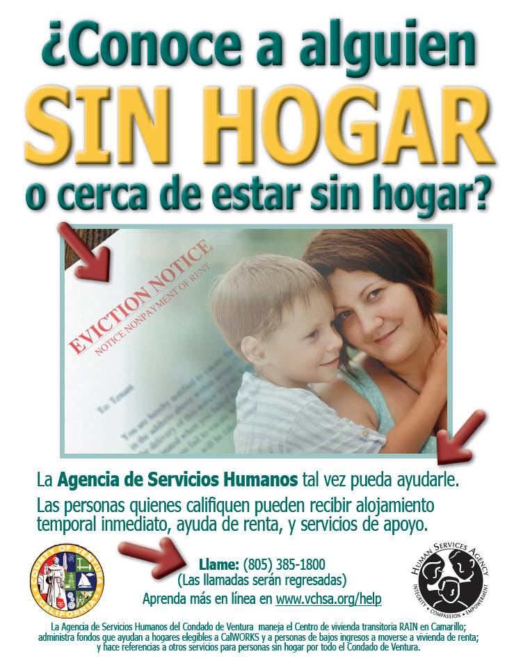 Homeless Eviction Flyer - Spanish