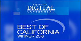 Digital Government Best of California Winner 2016