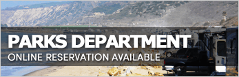 Parks Department Online Reservation Available