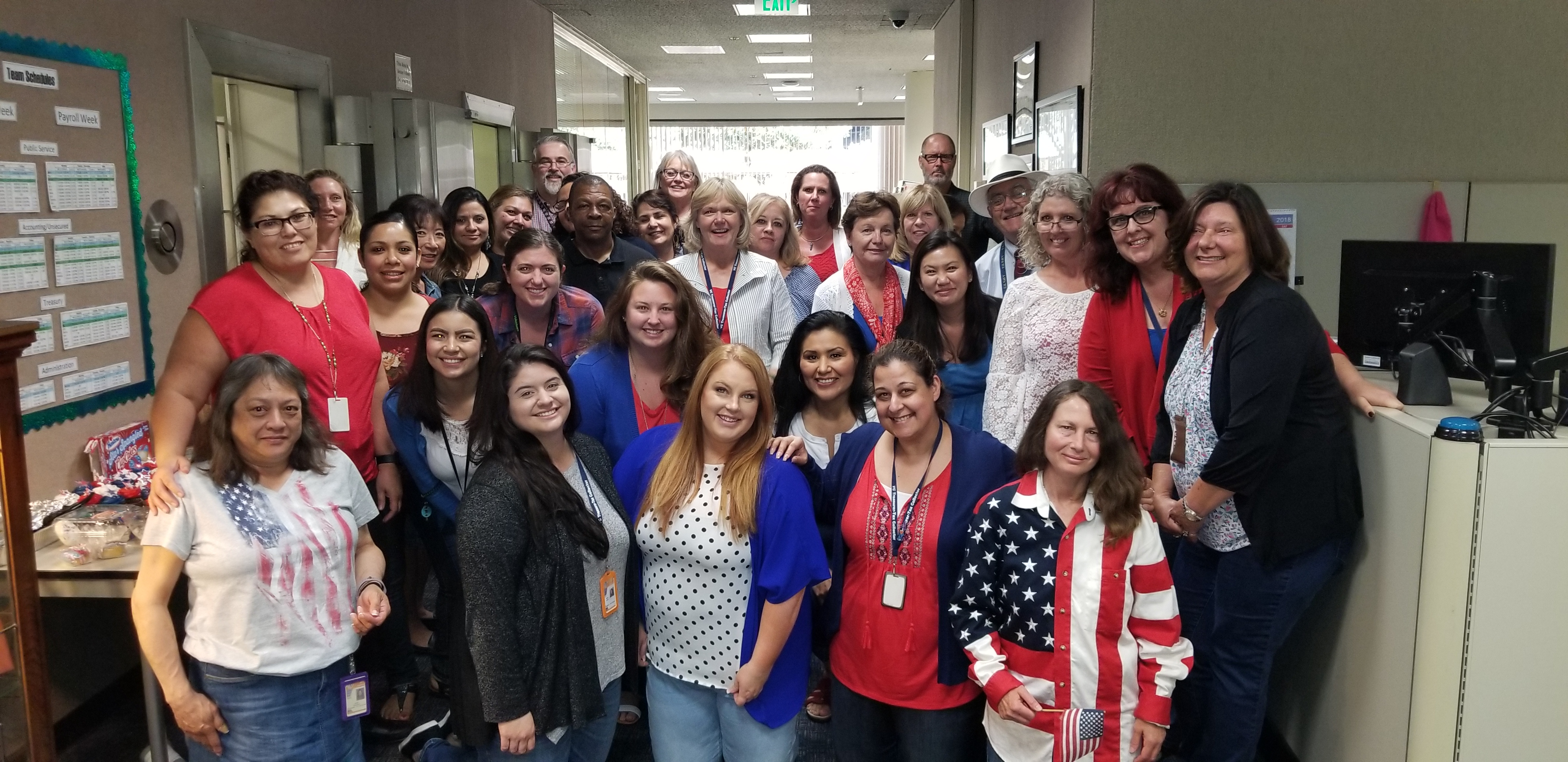 STAFF CELEBRATE THE 4TH OF JULY