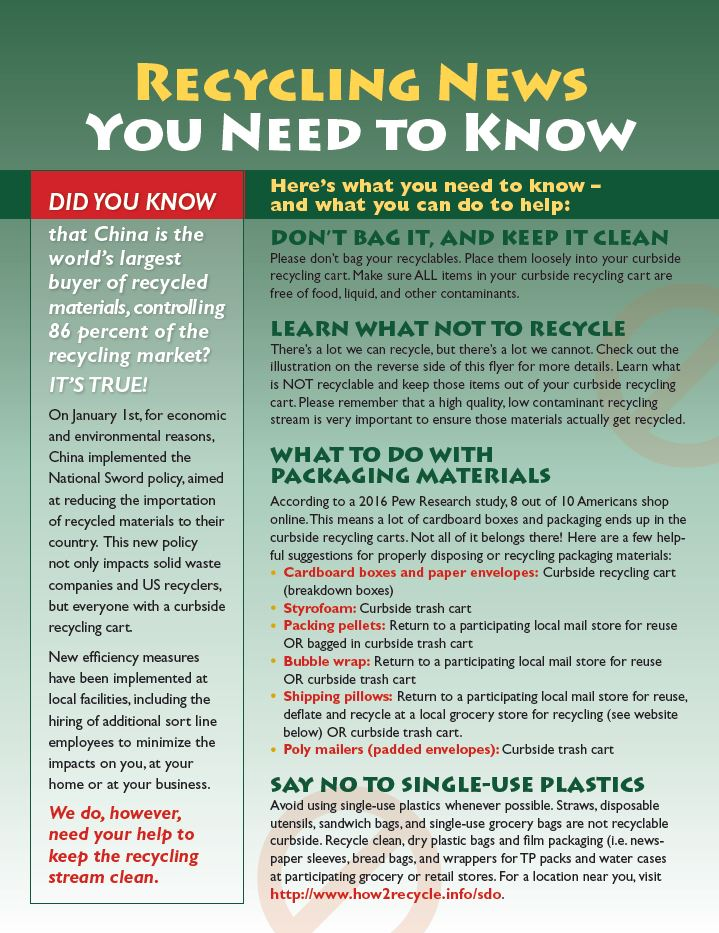Urgent New Recycling Information