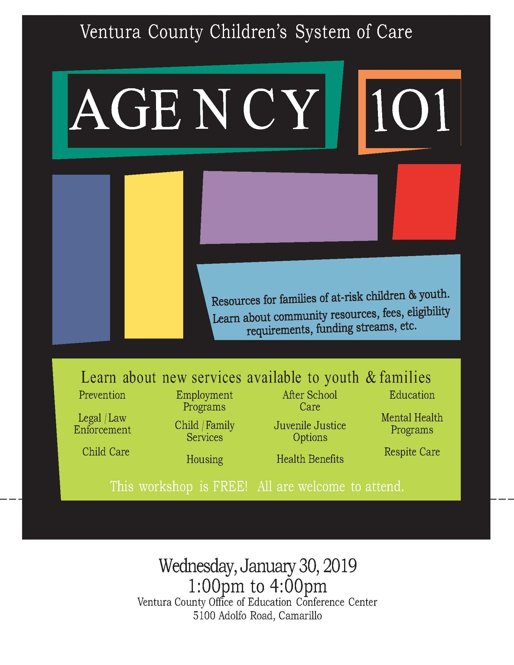 Jan 30 2019 VCOE Agency 101 Resource Fair