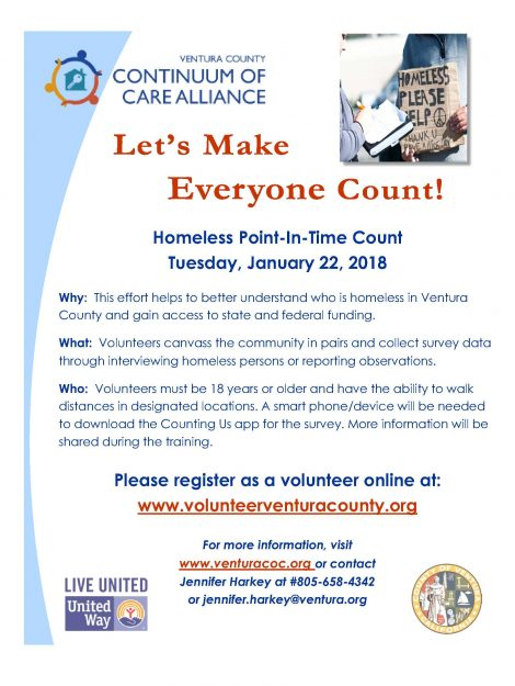 2019 PIT Homeless Count Flyer