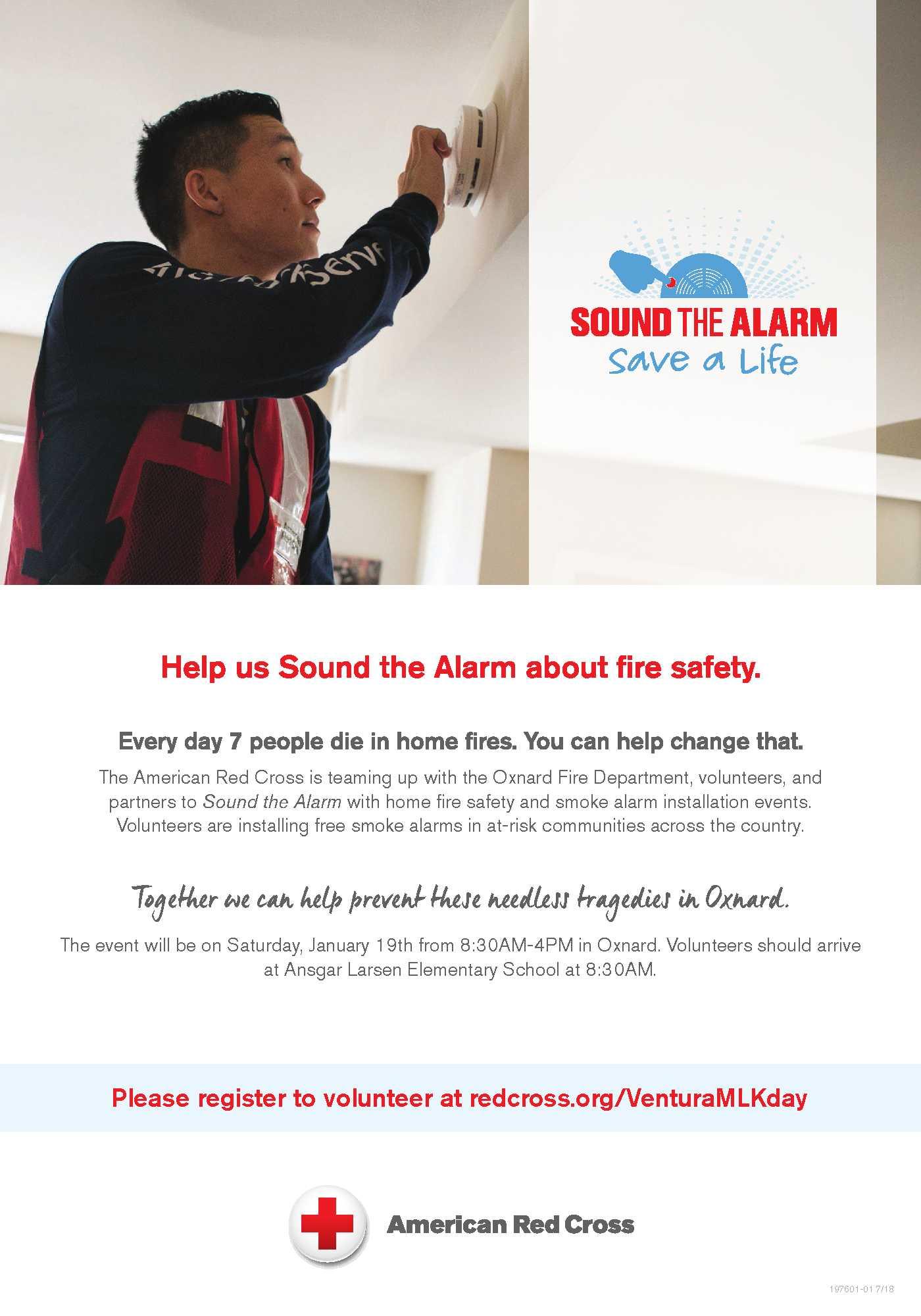 Jan 19 MLK Sound The Alarm Volunteer Flyer
