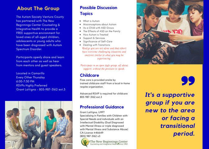 ASVC Autism Parent Support Group