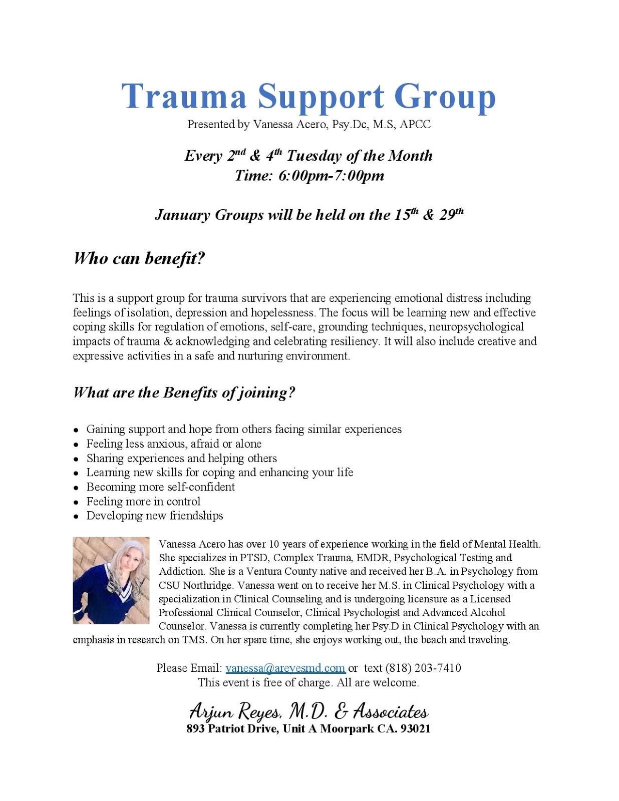 Free Trauma Support Group
