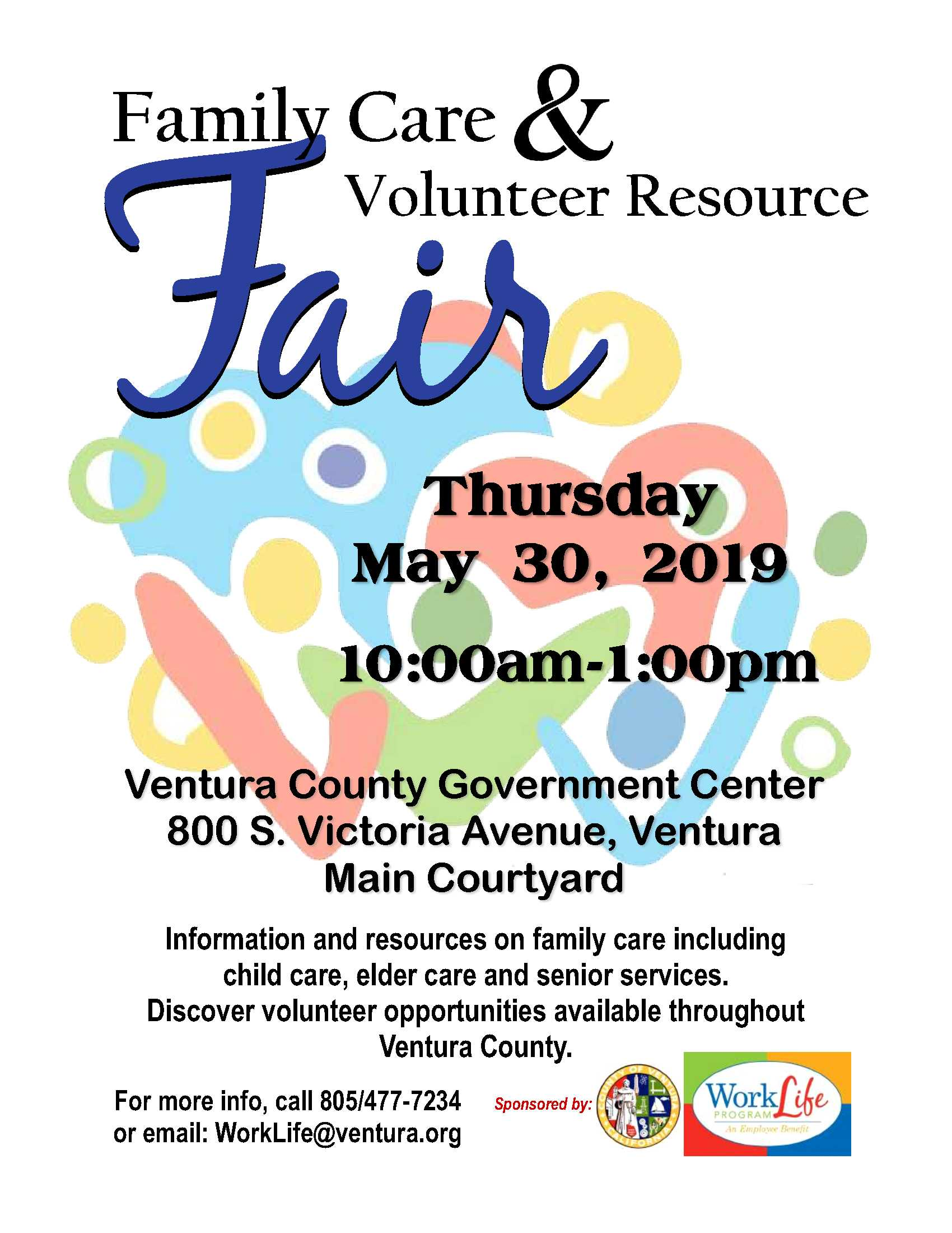 May 30 Family Care And Volunteer Resource Fair