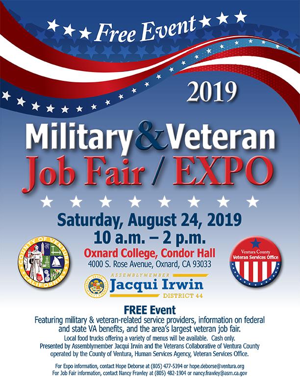 Saturday August 24 Military and Veteran Job Fair Expo