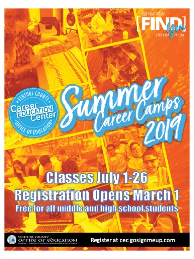 July Summer Career Camps VCOE