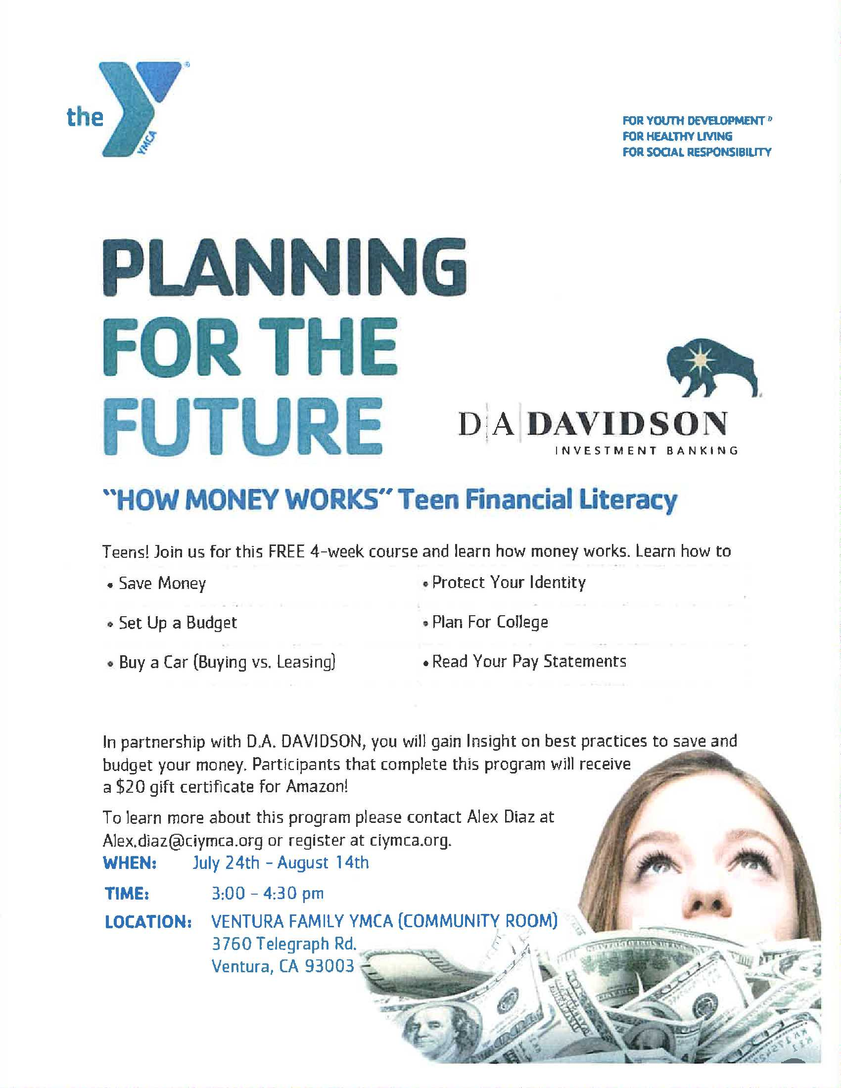 June 24 Teen Financial Literacy YMCA