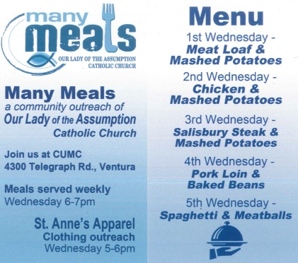 Many Meals Wednesdays Ventura