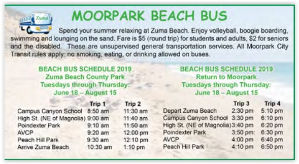 Moorpark Beach Bus 2019