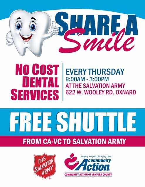 No Cost Dental Services Salvation Army Oxnard