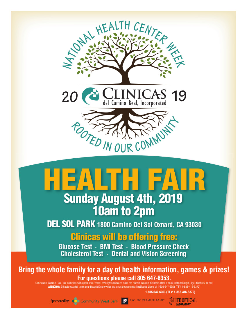 August 4 Health Fair Clinicas Oxnard