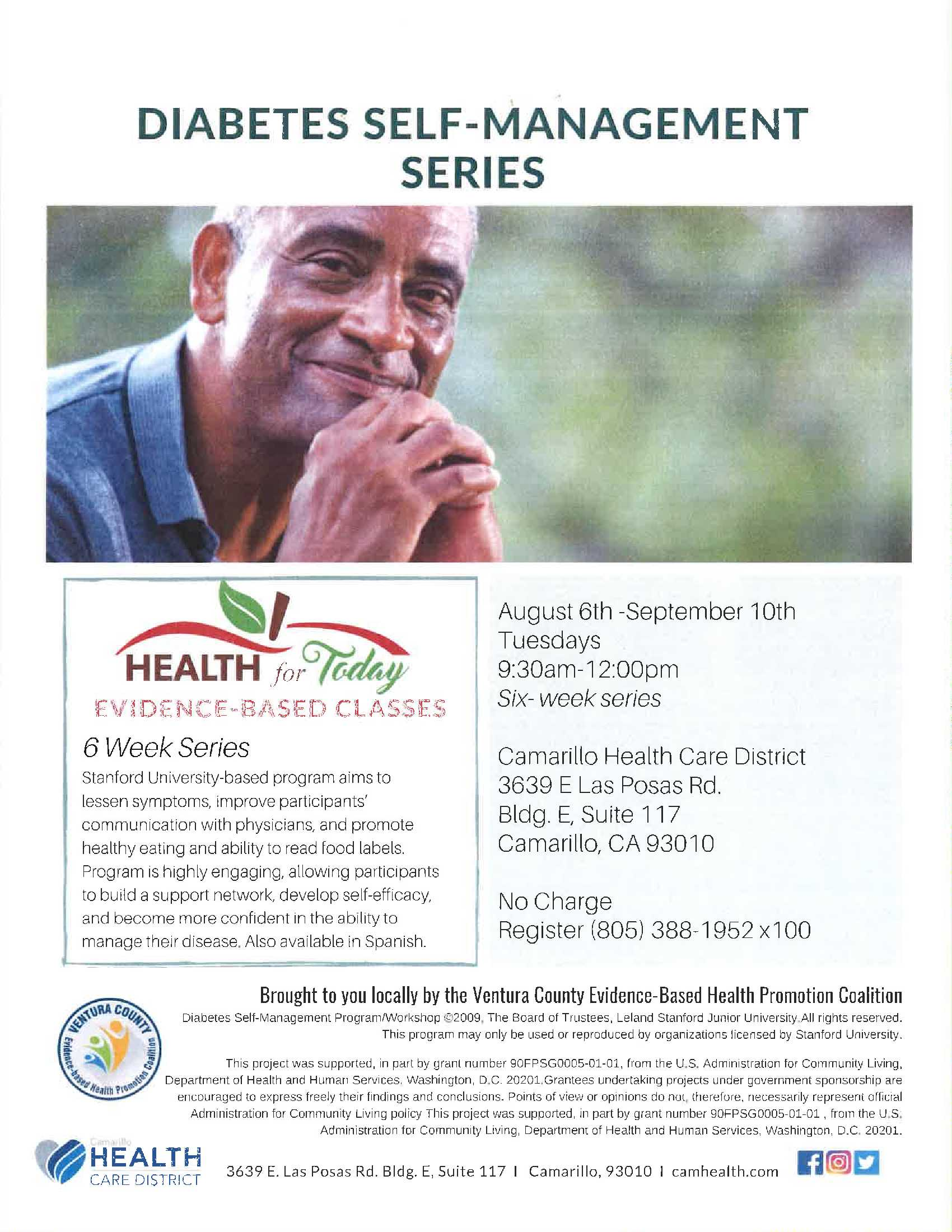 August 6 To September 10 Diabetes Self Management Series