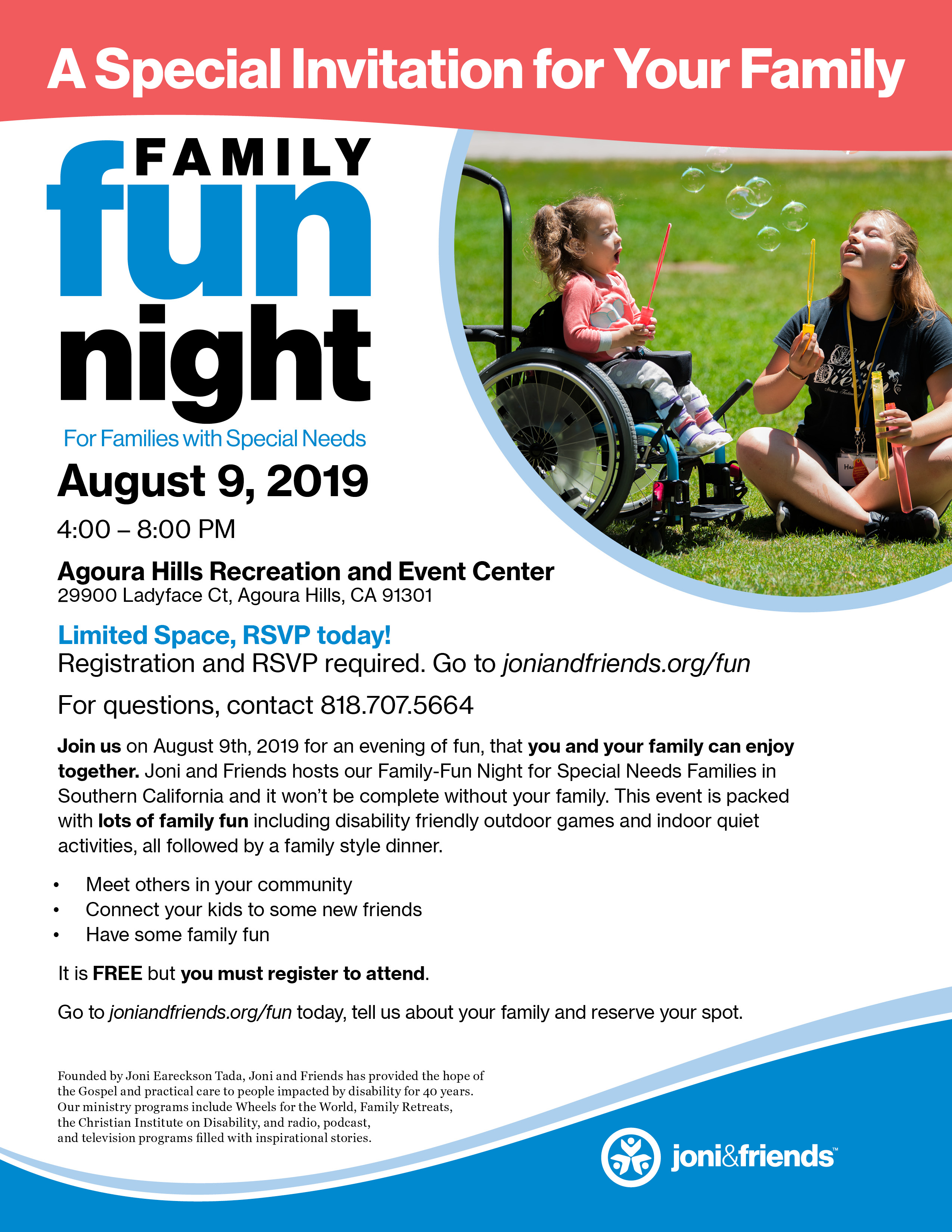 August 9 Joni And Friends Family Fun Night Invitation WEB