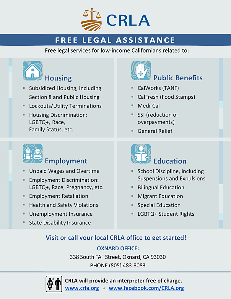 CRLA Free Legal Assistance Oxnard