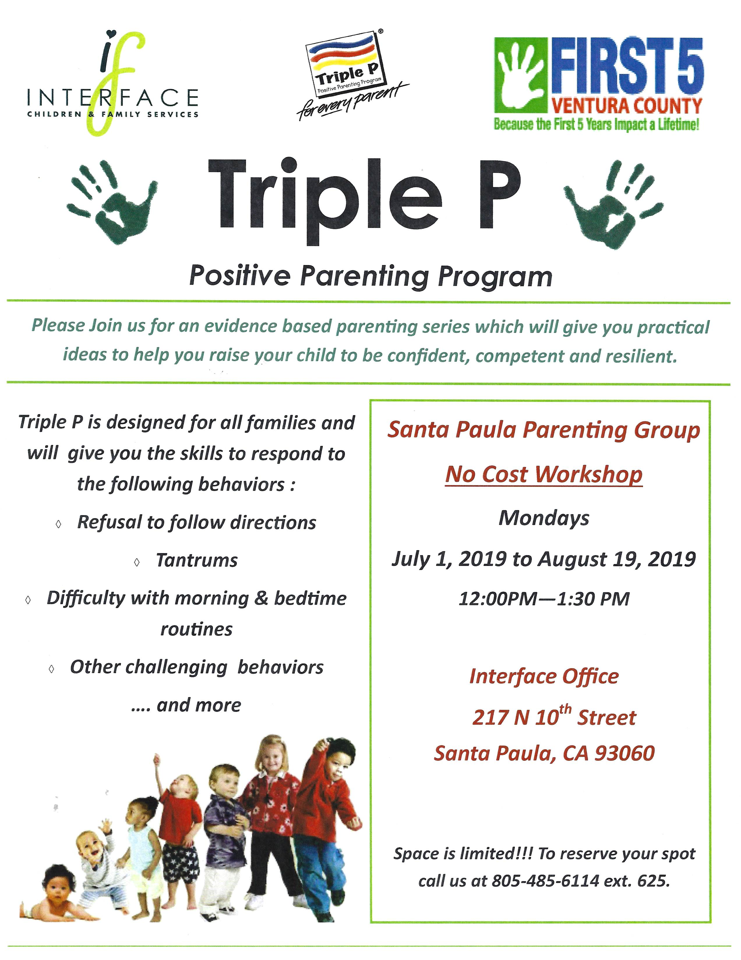 July 1 To August 19 Triple P Positive Parenting Program Santa Paula