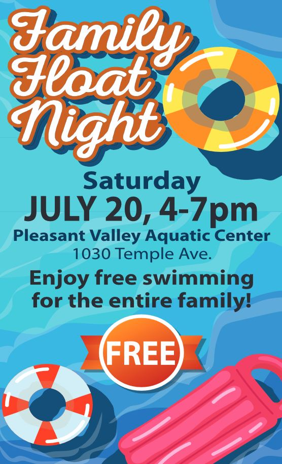 July 20 Family Float Night Pleasant Valley Aquatic Center