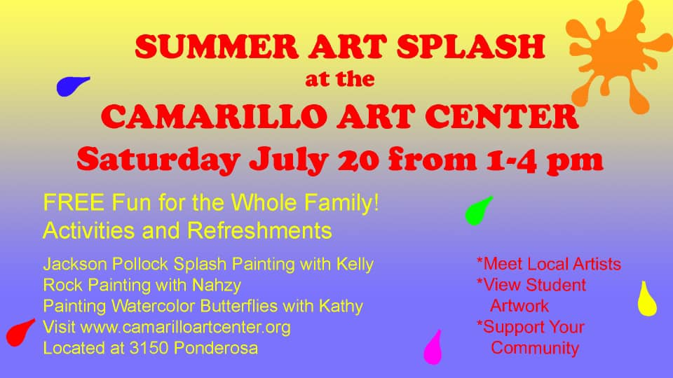 July 20 Summer Art Splash Camarillo
