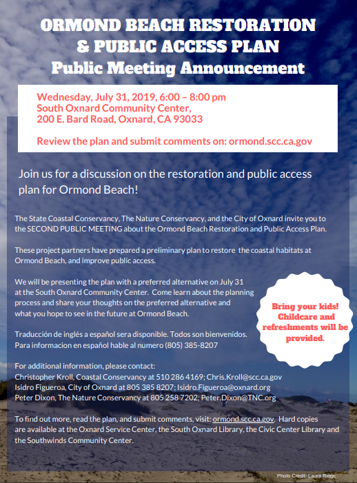 July 31 Ormond Beach Restoration And Access Public Meeting