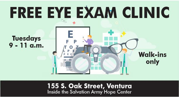 Free Eye Exam Clinic Salvation Army Ventura