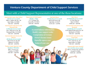 Ventura County Department of Child Support Services Locations
