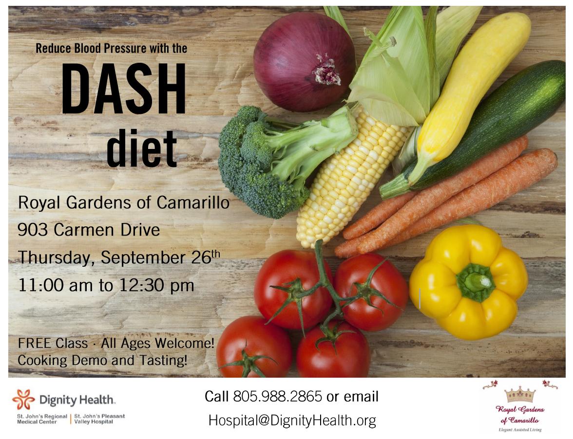 September 26 Reduce Blood Pressure with the DASH Diet Camarillo