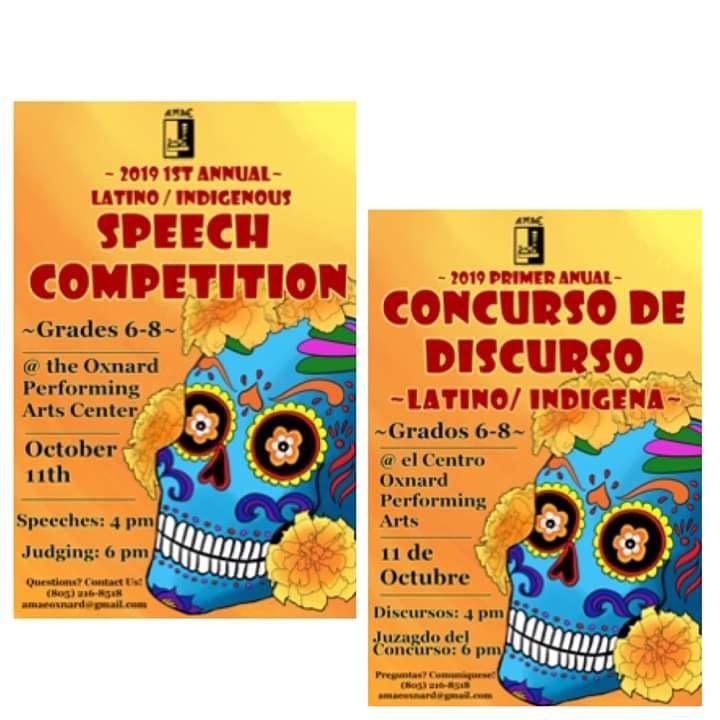 October 11 Latino Indigenous Speech Competition Oxnard