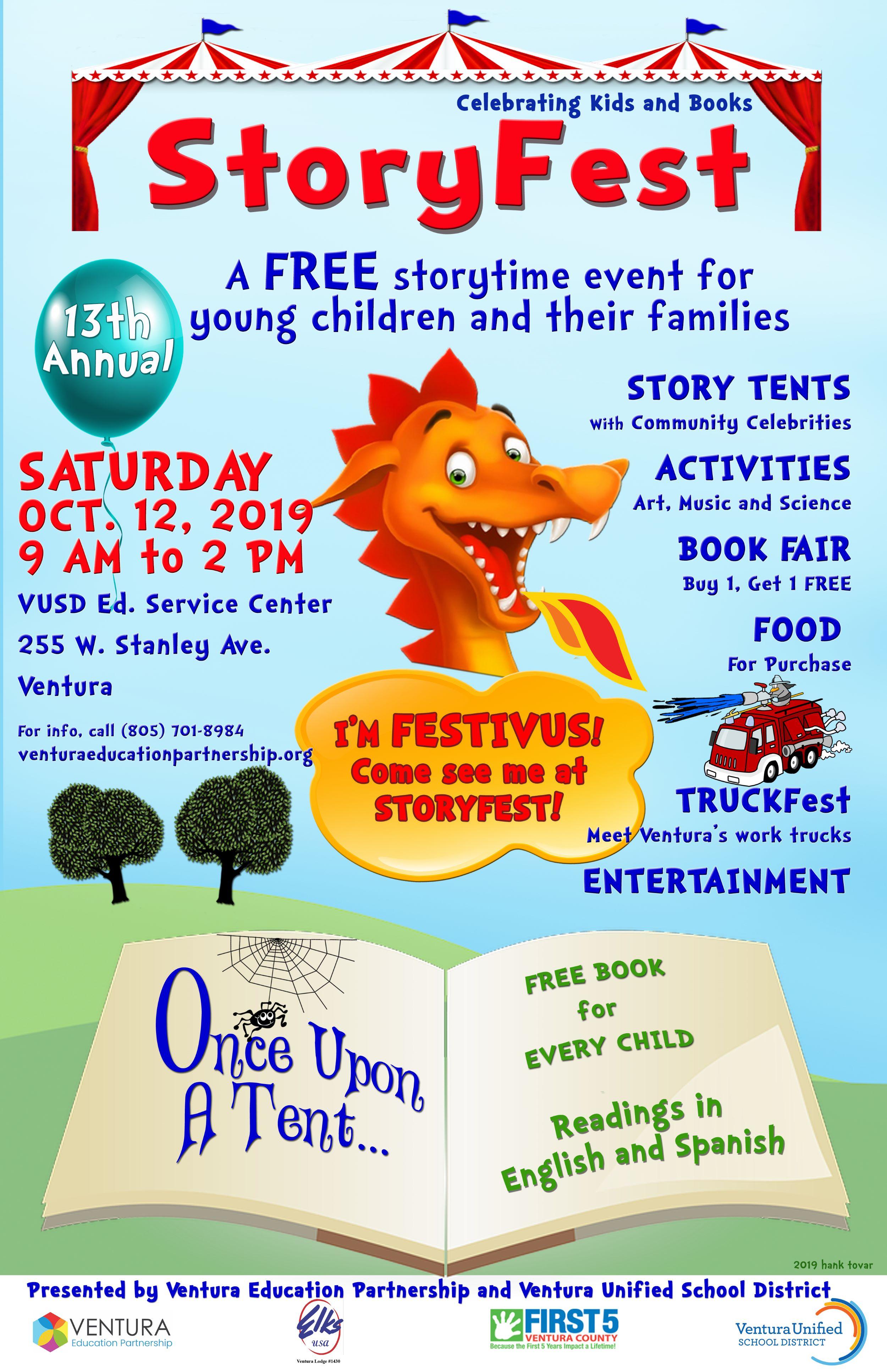 October 12 Storyfest Ventura