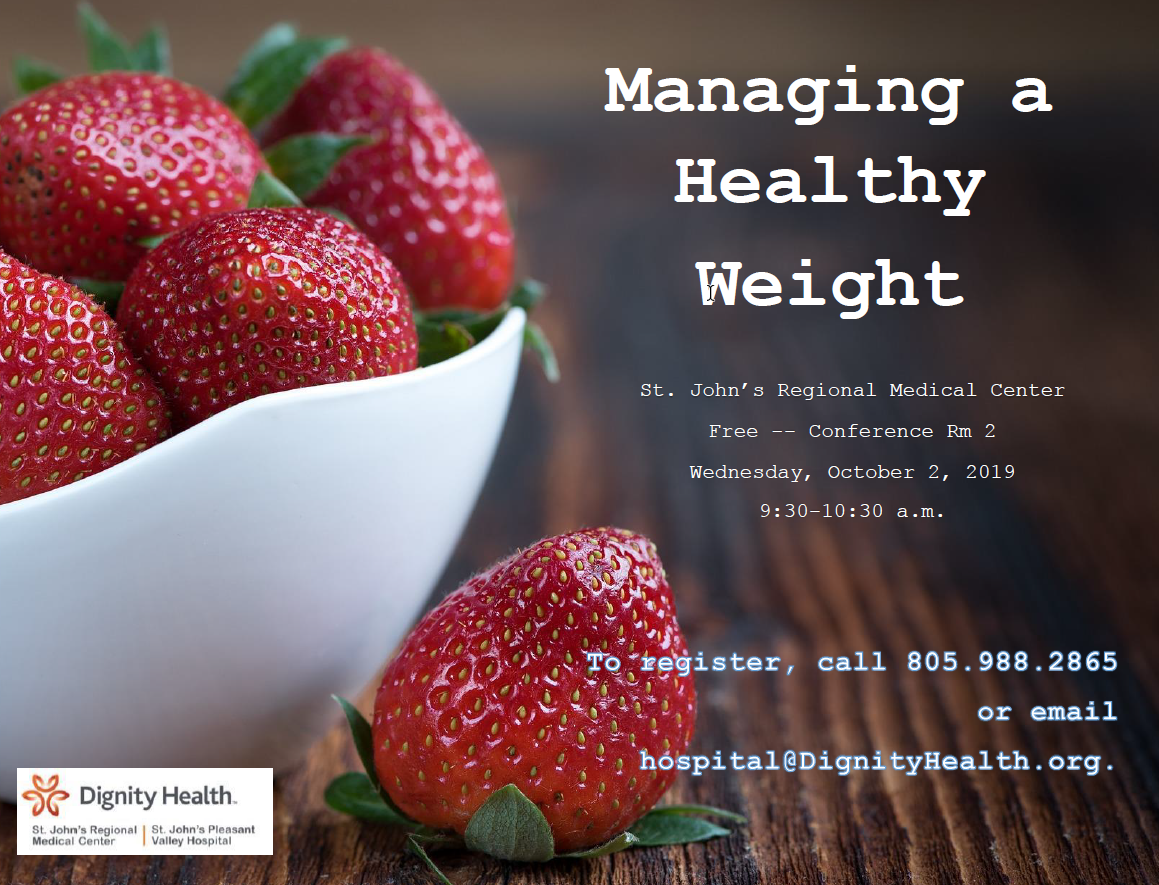 October 2 Managing a Healthy Weight