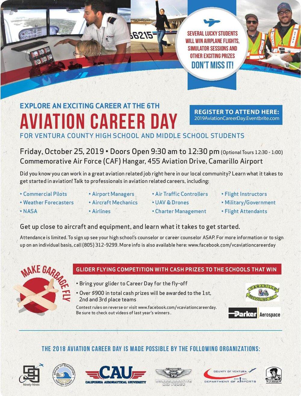 October 25 Aviation Career Day Camarillo