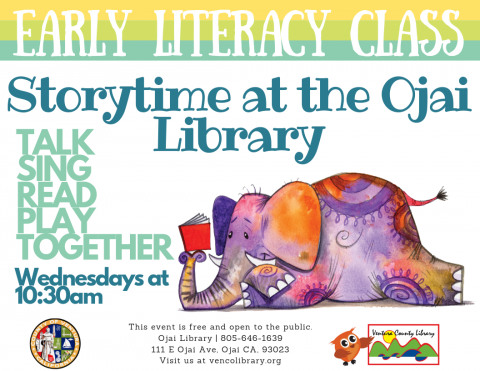 EARLY LITERACY CLASS Storytime at the Ojai Library