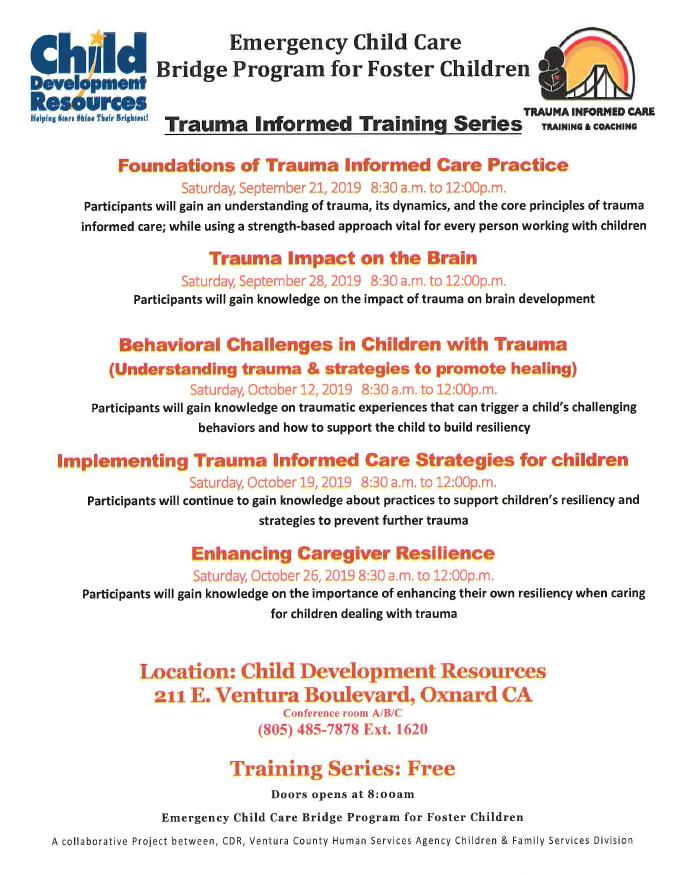 September 21 Foundations Of Trauma Informed Care