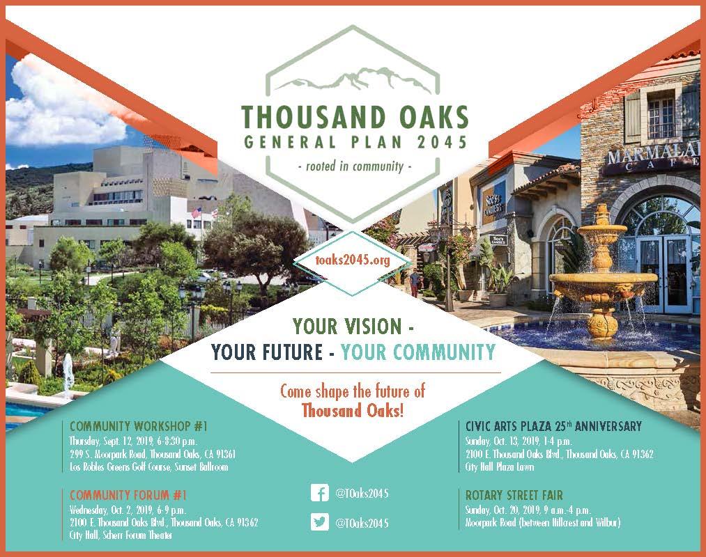 September 12 October 2 13 and 20 Thousand Oaks General Plan 2045 Workshops