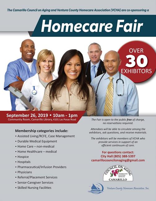 September 26 Homecare Fair Seniors Camarillo