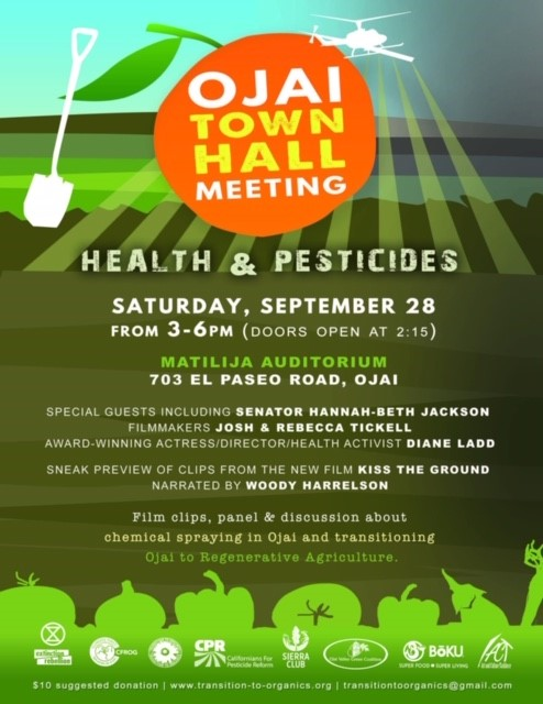 September 28 Ojai Town Hall Meeting Health And Pesticides