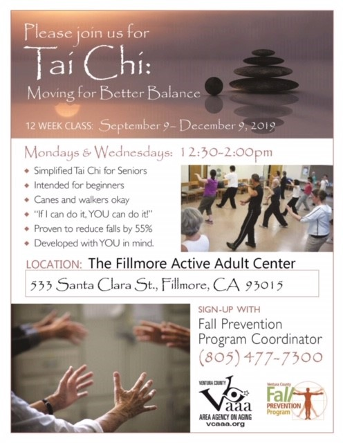 September 9 To December 9 Tai Chi Fillmore