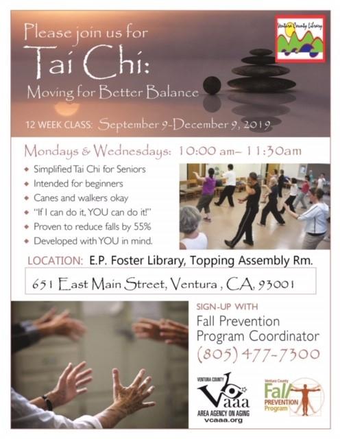 September 9 To December 9 Tai Chi Ventura