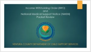 Income Withholding Order (IWO) & National Medical Support Notice (NMSN) Packet Review PowerPoint PDF