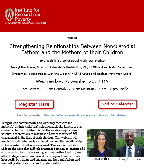 November 20 Strengthening Relationships Of Non Custodial Fathers Webinar