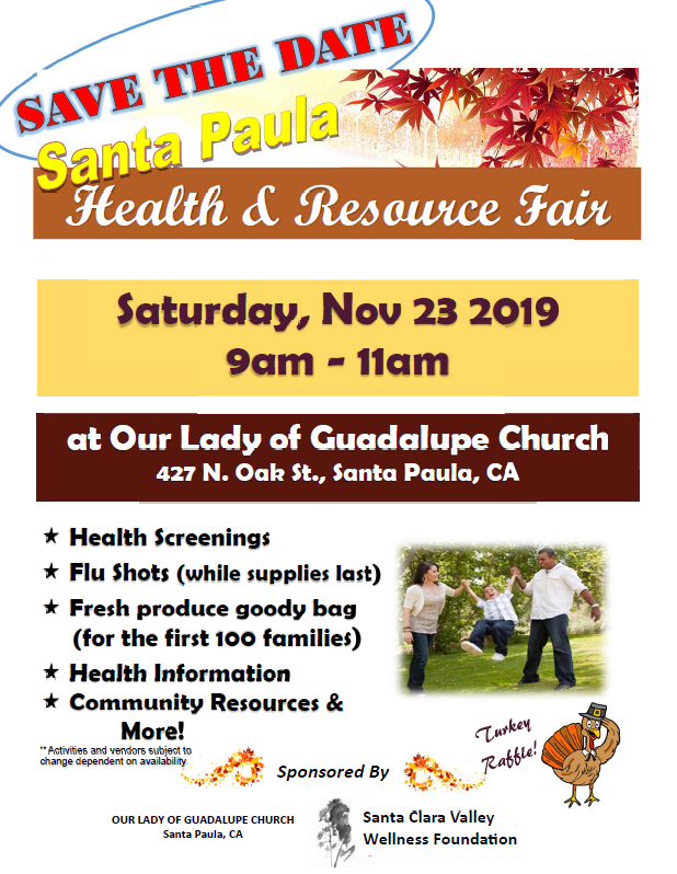 November 23 Santa Paula Health And Resource Fair