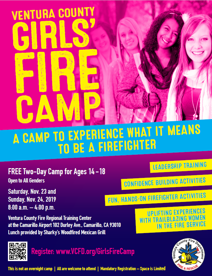Nov 23 And 24 Ventura County Girls Fire Camp Camarillo