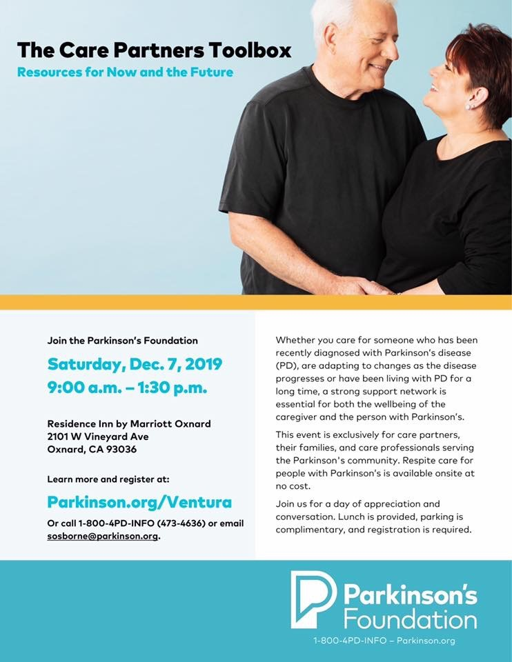 December 7 Parkinsons Care Partners Toolbox Oxnard
