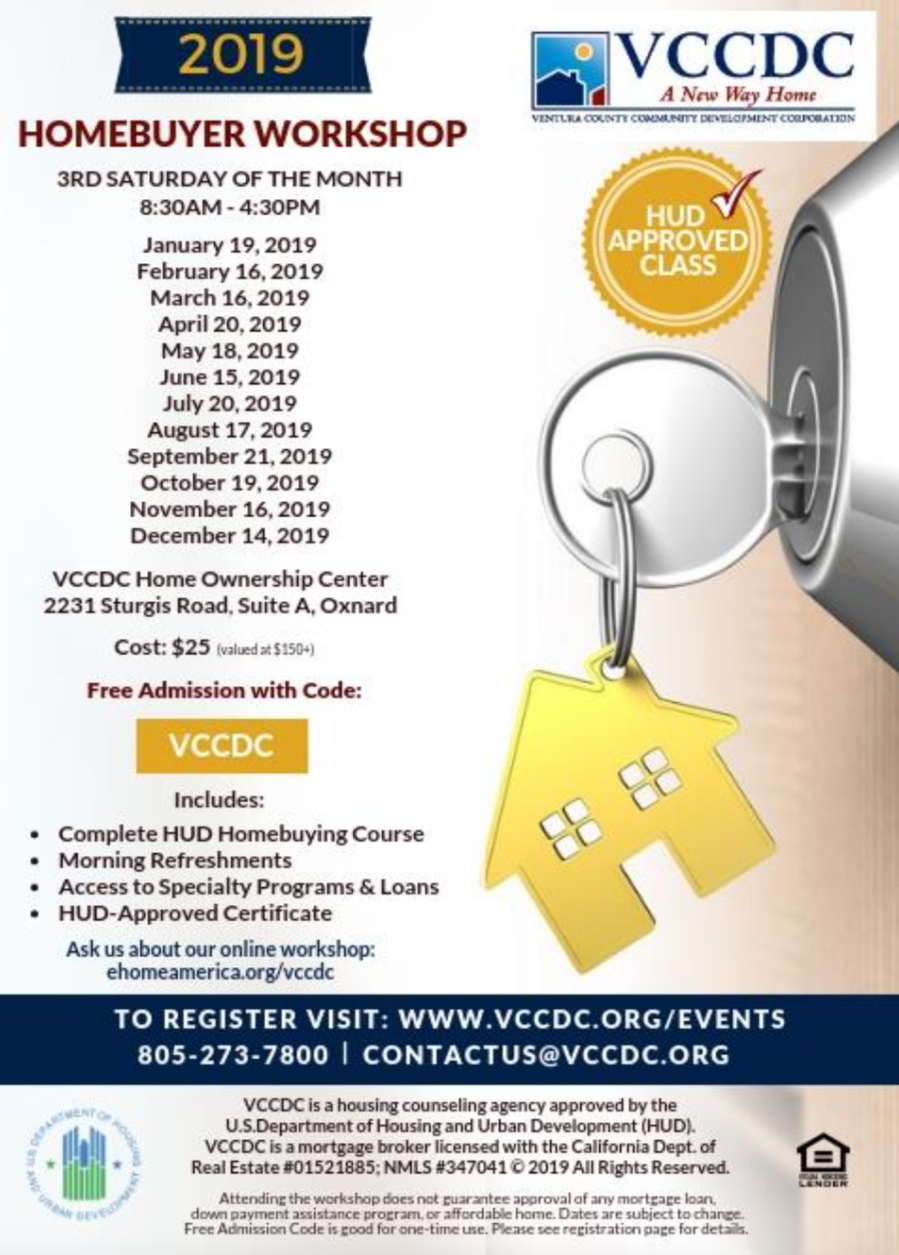 December 14 Homebuyer Workshop VCCDC Oxnard