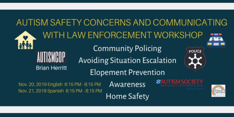 November 20 English Nov 21 Spanish Autism Safety Concerns and Communicating With Law Enforcement Oxnard