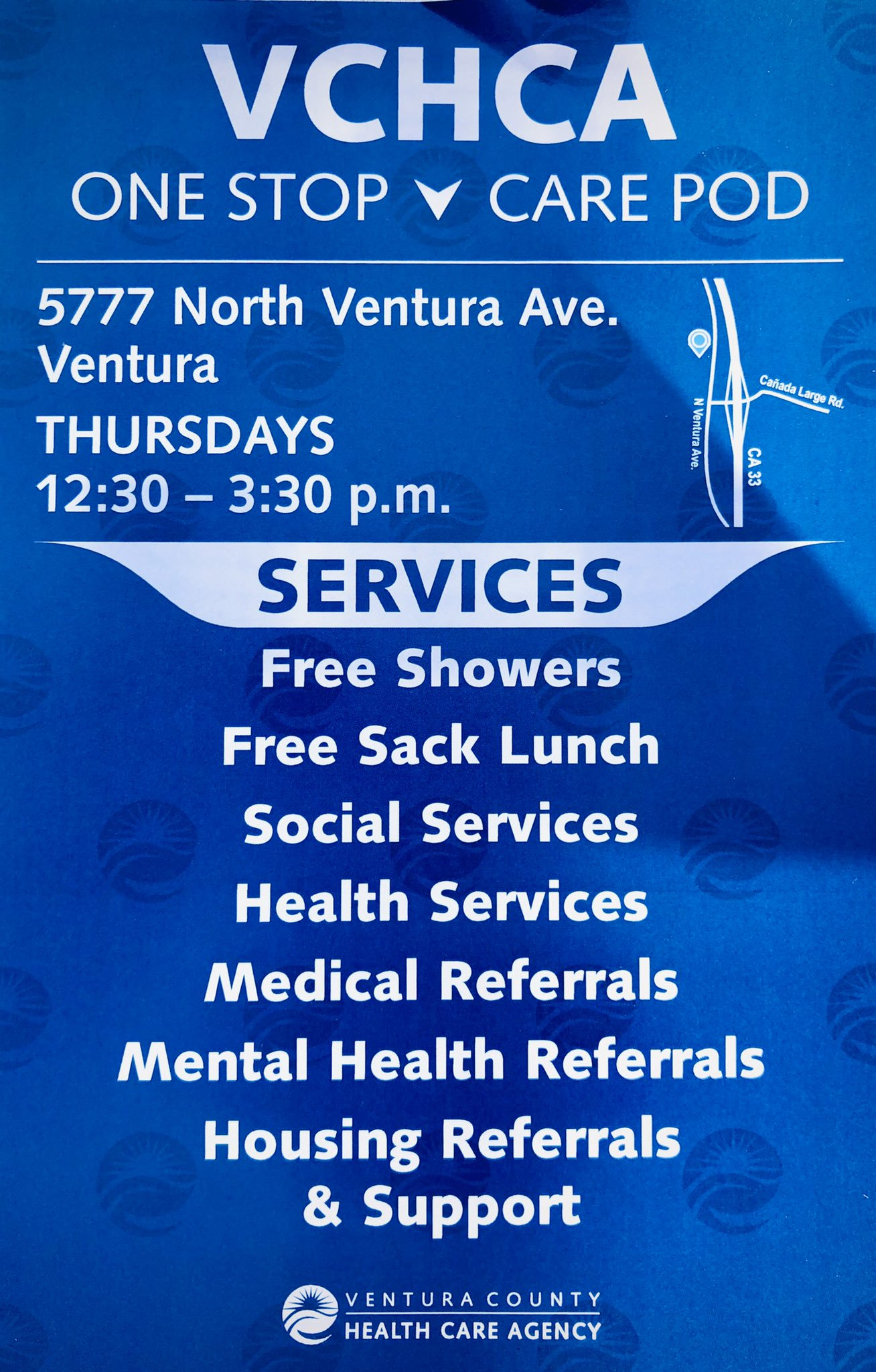 Thursdays VCHCA One Stop Care Pod Ventura