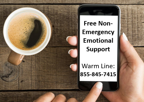 Free Non-Emergency Emotional Support and Referrals