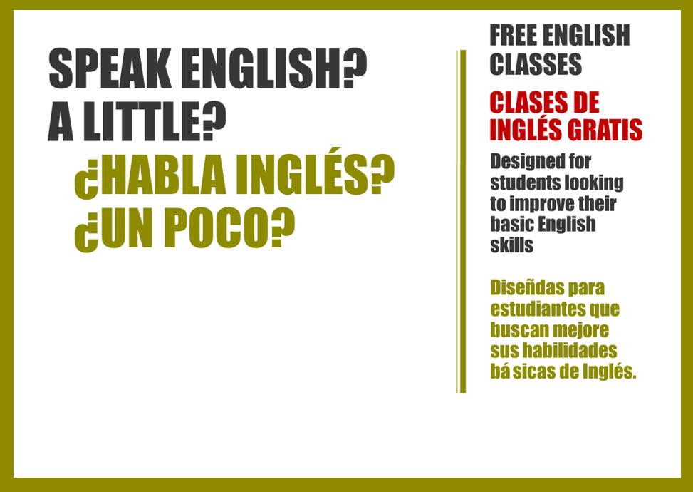 Speak English? A little? // ¿Habla ingles? ¿Un poco?